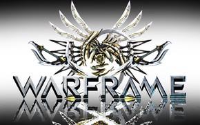 Картинка фон, игра, эмблема, Warframe