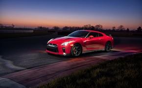 Картинка вечер, GTR, суперкар, Nissan, GT-R, Track Edition, 2017