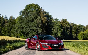 Картинка red, honda, nsx, 2017