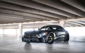 Обои GTR, Mercedes, AMG, Lights, Sight, Graphite, V8 Bi-turbo
