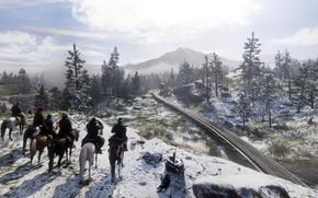 Картинка фон, игра, Red Dead Redemption II