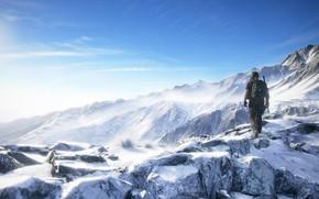 Картинка небо, пейзаж, горы, природа, игра, Ubisoft, шутер, Tom Clancy's Ghost Recon Wildlands