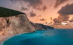 Картинка ocean, landscape, Greece, Lefkada Island