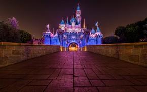 Картинка ночь, замок, площадь
