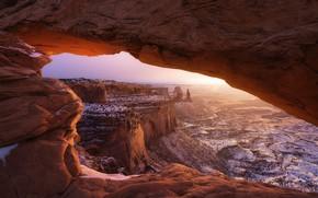 Картинка горы, природа, арка