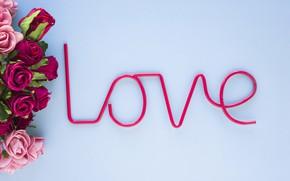 Картинка любовь, цветы, розы, love, pink, flowers, beautiful, romantic, roses