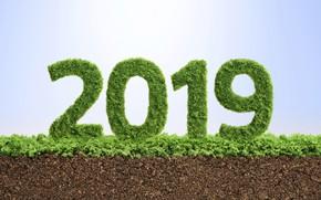 Картинка текстура, цифры, Новый год, New Year, 2019
