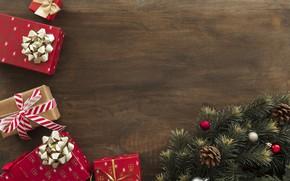 Картинка украшения, Новый Год, Рождество, подарки, Christmas, wood, New Year, gift, decoration, Merry, fir tree, ветки …