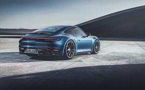 Картинка Авто, Черный, Porsche, Машина, Porsche 911, Black, Carrera 4S, Porsche 911 Carrera 4S, by Umit …