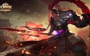 Картинка самурай, парень, King of Glory, Король славы