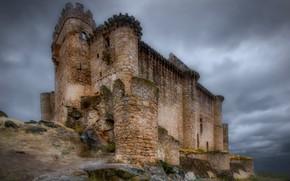 Картинка небо, замок, руины