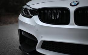 Картинка BMW, White, F80, Sight, Aggressive