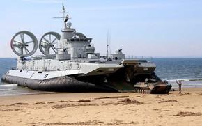 Обои корабль, подушка, бмп, высадка, десантный, воздушная