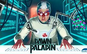 Картинка исследование, лаборатория, манипулятор, Lena in the Lab, Dawn of the Paladin