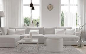 Картинка дизайн, диван, интерьер, гостиная