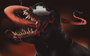 Картинка язык, пасть, слюна, векторная графика, Веном, Venom, симбиот