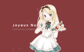 Картинка голубые глаза, Alice in Wonderland, крем, Алиса в Стране Чудес, Alice, фартук, оборки, кусок торта, …