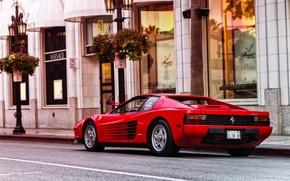 Картинка Красный, Машина, Феррари, Ferrari, Спорткар, 1986, Testarossa, F512 M, 512 TR, Ferrari Testarossa, Ferrari Testarossa …