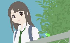 Картинка взгляд, девочка, Kimi no Koe wo Todoketai