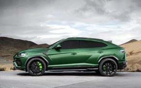 Обои Lamborghini, вид сбоку, 2018, TopCar, Urus