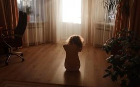 Картинка девушка, одиночество, комната, Aleks Five