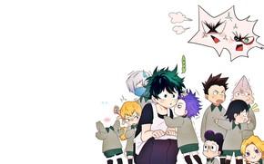 Картинка дети, аниме, Дети, арт, парни, детский сад, Boku no Hero Academia, Моя геройская академия