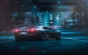 Картинка Авто, Lamborghini, Машина, NFS, Lamborghini Murcielago, Murcielago, Рендеринг, Game Art, Payback, Transport & Vehicles, by …