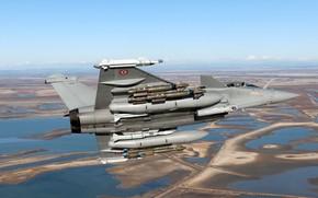 Картинка Истребитель, Dassault Rafale, ВВС Франции, Armée de l'Air, ПТБ, Корректируемая авиабомба, MBDA Meteor, MBDA MICA, …