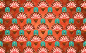 Картинка цветы, абстракция, фон, узор, текстура, орнамент