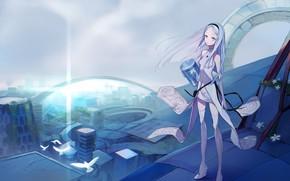 Картинка девушка, фантастика, аниме
