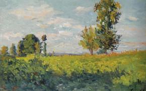 Картинка пейзаж, картина, ПОЛЯ, 1905, Максимильен Люс, Maximilien Luce