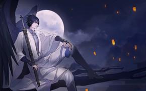 Картинка парень, Саске, Наруто, Naruto, Uchiha Sasuke, Учиха Саске