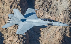 Картинка небо, самолёт, летит, F-18F