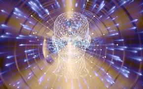 Картинка сеть, андроид, связь, искусственный интеллект