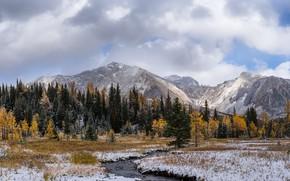 Картинка осень, горы, река