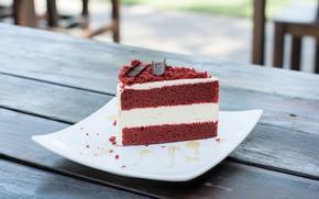 Картинка шоколад, тарелка, торт, крем, десерт, выпечка, бисквит