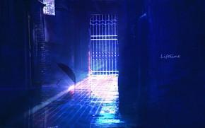Картинка вечер, зонт, переулок, by Lifeline