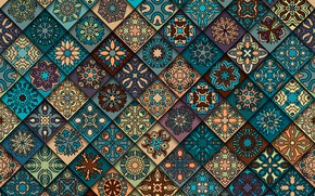 Обои цветы, фон, узор, текстура, геометрия, орнамент, geometric