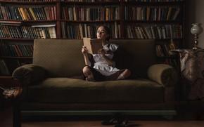 Картинка девушка, книги, форма, ученица, Андрей Фролов, Валерия Новикова