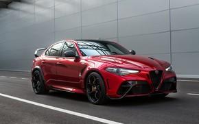 Картинка Alfa Romeo, у стены, Giulia, GTAm, 2020, Gran Turismo Alleggerita modificata