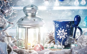 Картинка фон, игрушки, лампа, новый год, Зима, Снег, Свет, Рождество