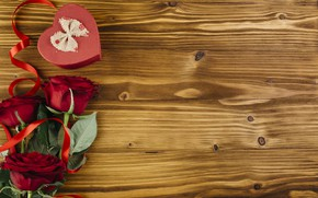 Картинка любовь, сердце, розы, love, heart, romantic, valentine, roses, gift box