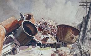 Картинка 1929, Charles Ephraim Burchfield, Still Life - Scrap Iron