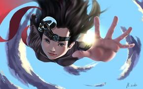 Картинка девушка, рука, падение