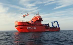 Картинка Океан, Море, Вертолет, Судно, Техника, Vessel, Росморречфлот, Мурман, M/V Murman, Salvage, MPSV Murman, Rescuer Murman, …