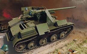 Картинка TACAM, Самоходное противотанковое орудие, T-60, румынская противотанковая САУ