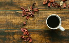 Картинка осень, листья, фон, дерево, кофе, colorful, чашка, wood, background, autumn, leaves, cup, coffee, осенние