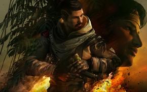 Картинка пистолет, оружие, огонь, солдаты, бойцы, спецназ, ubisoft, Amaru, Tom Clancy's Rainbow Six Siege, Rainbow Six …