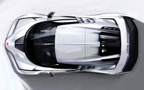 Картинка Рисунок, Bugatti, Вид сверху, Гиперкар, Sportscar, 2020, Centodieci, Bugatti Centodieci