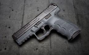 Картинка пистолет, серый, фон